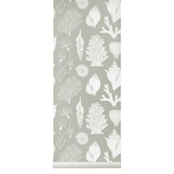 ferm LIVING Katie Scott Shells Wallpaper - Aqua