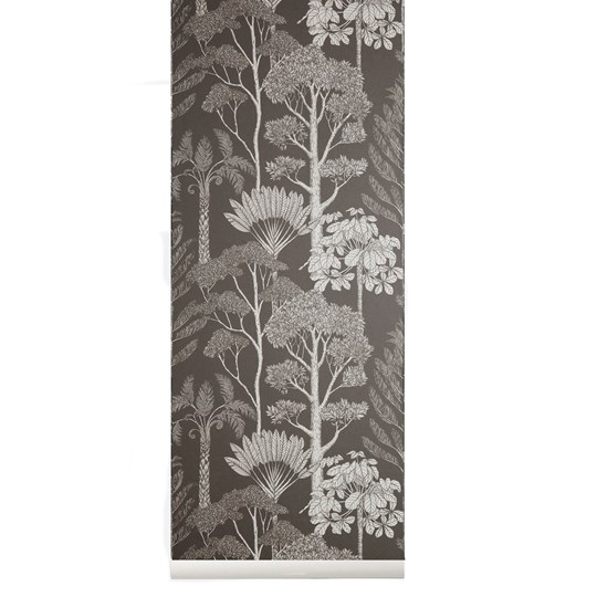 ferm LIVING Katie Scott Trees Wallpaper - Brown Grey Brown Grey