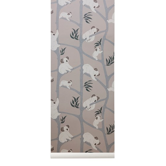 ferm LIVING Koala Wallpaper - Grey Black