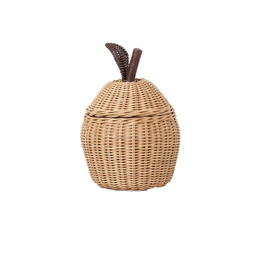 ferm LIVING Apple Braided Storage Basket - Small Natural