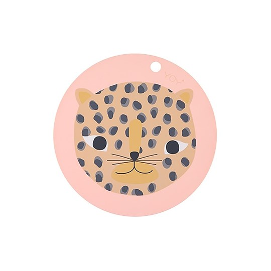 OYOY Snow Leopard Placemat Pink