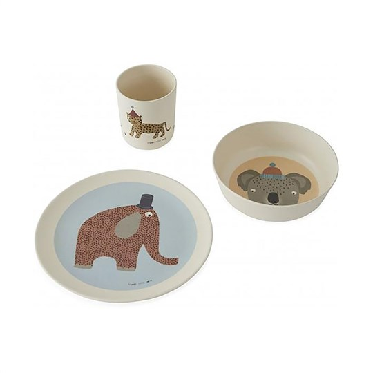 OYOY Hathi Bamboo Tableware Set Multi