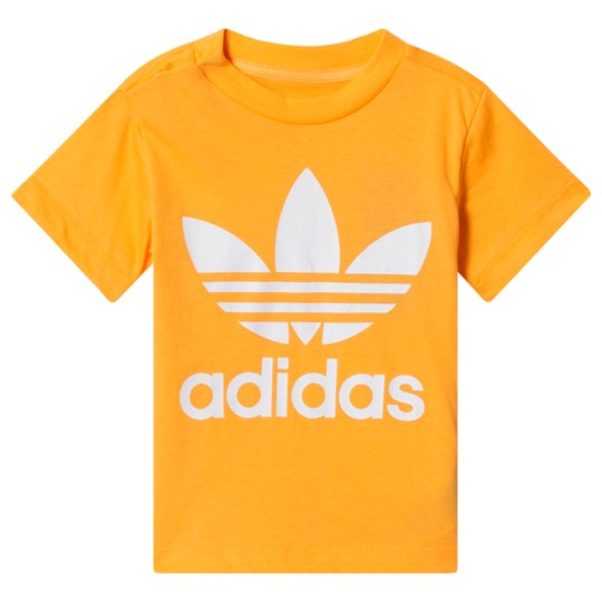 adidas Originals Logo Tee Yellow REAL GOLD S18/white