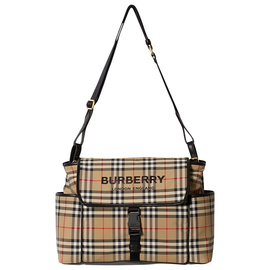 Burberry Check Changing Bag Archive Beige A7026