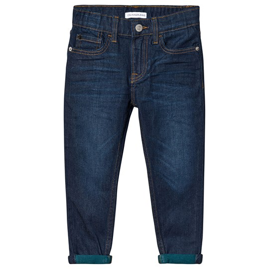 Calvin Klein Jeans Mid Wash Tapered Stretch Jeans 911