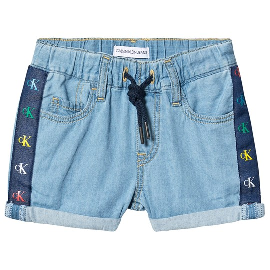 Calvin Klein Jeans Branded Shorts Mid Blue 911