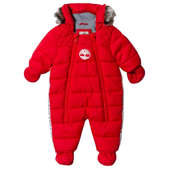 Timberland Water Repellent Snowsuit Red with Mittens and Booties 970