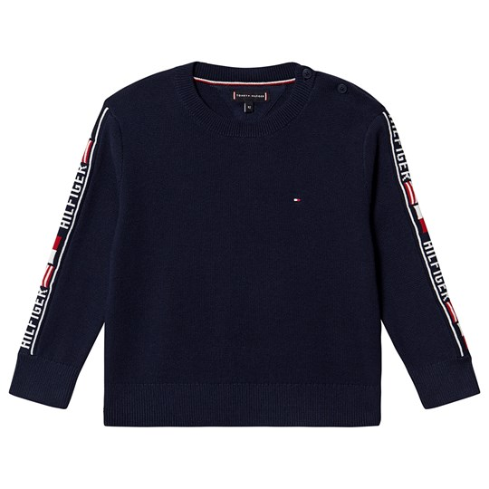 Tommy Hilfiger Logo Tape Sweater Black Iris 002