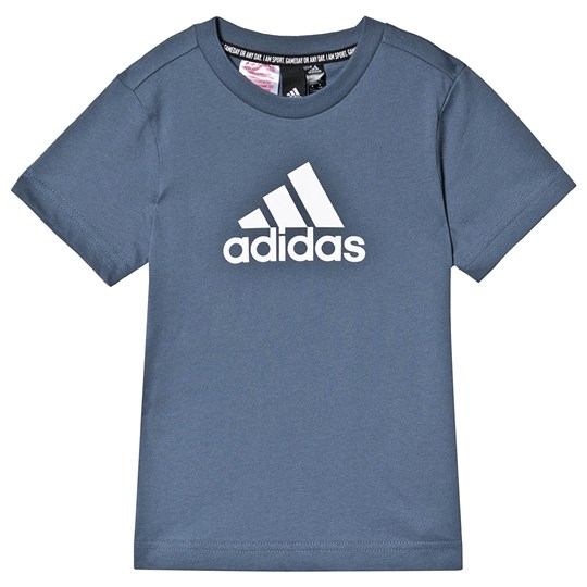 adidas Performance Must Have Logo T-Shirt Blue tech ink/white