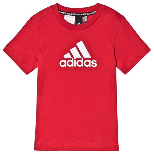 adidas Performance Must Have Logo T-shirt Röd SCARLET/WHITE