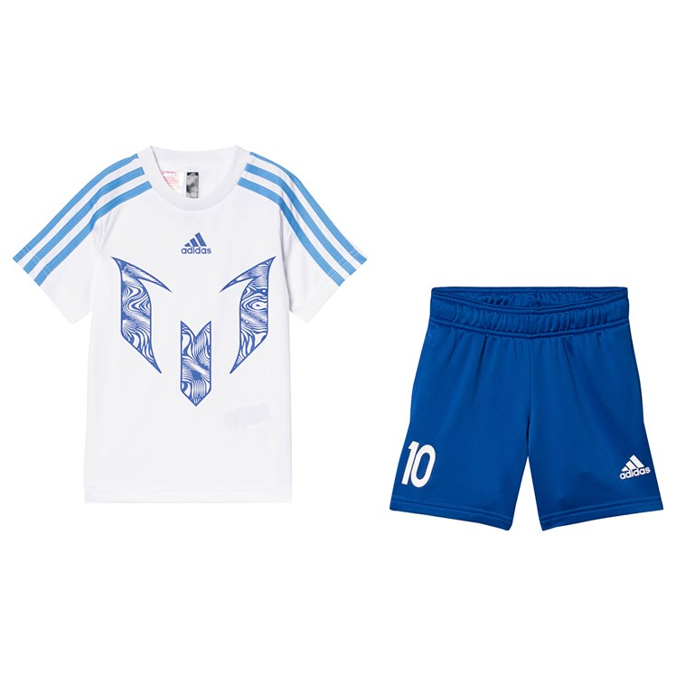 quality design 06bf4 1c54c adidas Performance - Messi Top & Shorts Set White/Blue ...