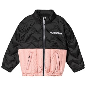 Burberry Quilted Logo Jakke Sort og Pink 4 years