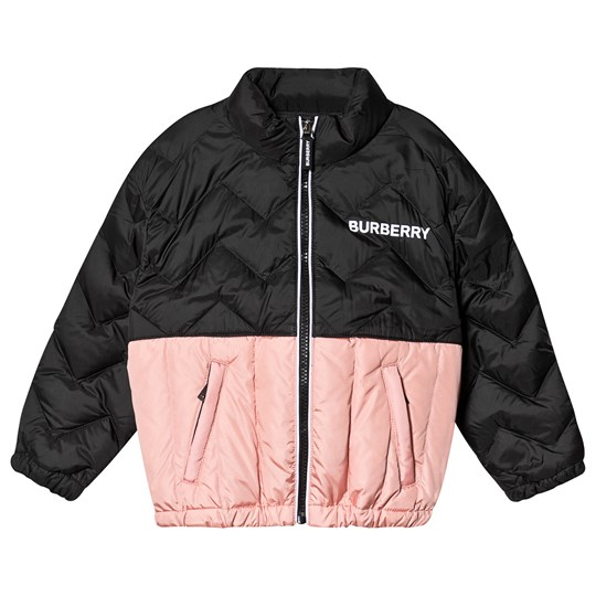 Burberry Quilted Logo Jacket Black and Pink A1419