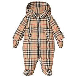 Burberry Vintage Check Puffer Coverall Archive Beige