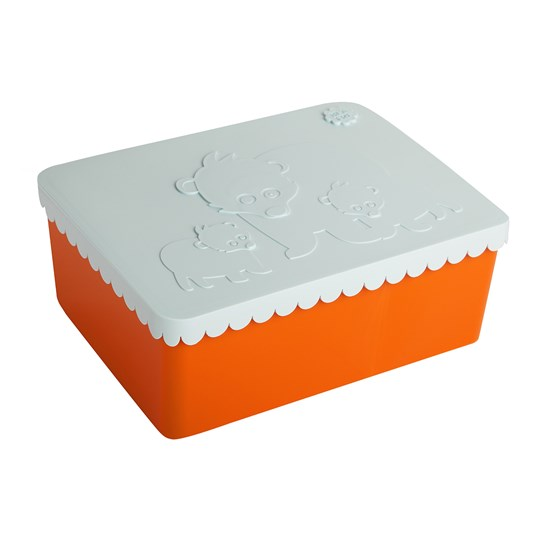 Blafre Bear Lunch Box Light Blue/Orange Orange