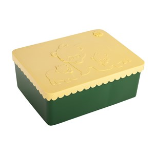 Image of Blafre Bear Lunch Box Light Yellow/Dark Green One Size (1434246)