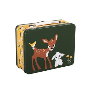 Blafre Tin Lunch Box Deer & Rabbit One Size