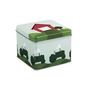 Image of Blafre Small Tin Box Tractor & Barn One Size (1434264)