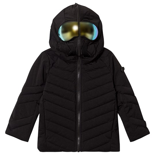 AI Riders on the Storm Padded Goggle Hood Coat Black 90 BLACK