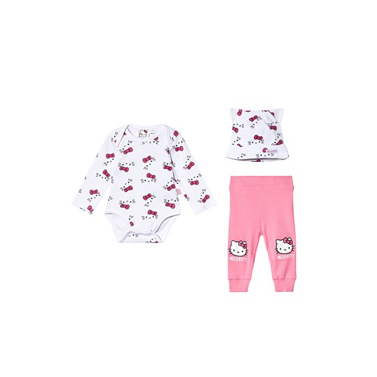 Hello Kitty Hello Kitty LS Baby Set White/Pink Carnation White/Pink Carnation