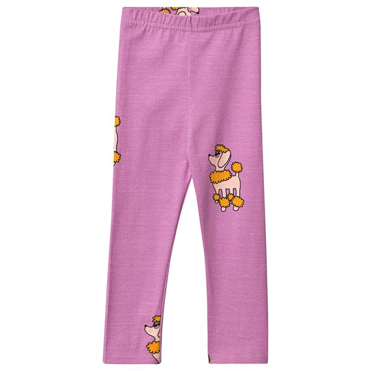 Hugo Loves Tiki Poodle Leggings Lila Purple Poodle