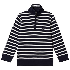 Henri Lloyd Stripe Zip Sweatshirt Navy 6-7 years