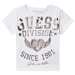 Guess Division Tee White