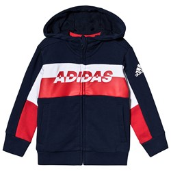 adidas Performance Colorblock Hoodie Navy/Red