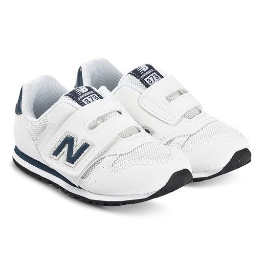 New Balance 373 Velcro Sneakers White and Navy WHITE (100)