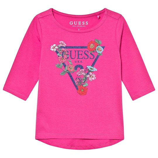 Guess Floral Long Sleeve Tee Pink RSTI