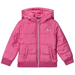Guess Padded Hooded Jacket Pink