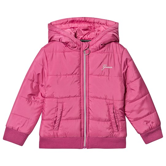 Guess Padded Hooded Jacket Pink RSTI