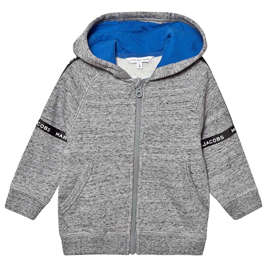 Little Marc Jacobs Tape Logo Hoodie Grey A22