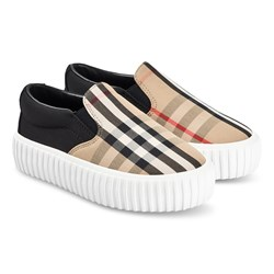 Burberry Vintage Check Slip-On Sneakers Archive Beige and Black