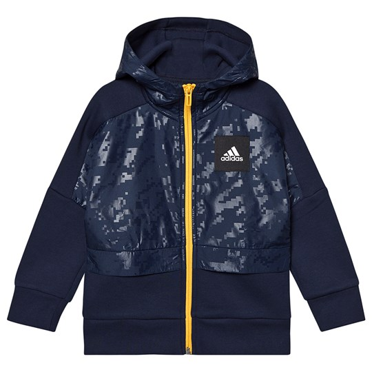 adidas Performance ID Cover Hoodie Navy collegiate navy/active gold