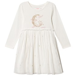 Billieblush Moon and Star Tulle Dress White