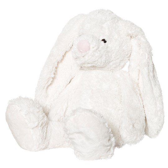STOY Baby Plush Bunny with Big Feet White