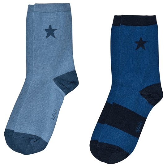 Molo 2-Pack Nitis Socks Twilight Blue Twilight Blue