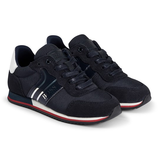 BOSS Logo Sneakers Navy and Silver 849