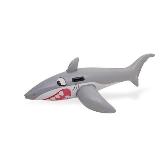 Bestway Great White Shark Ride-On Pool Float Grey 183 x 102 cm Black