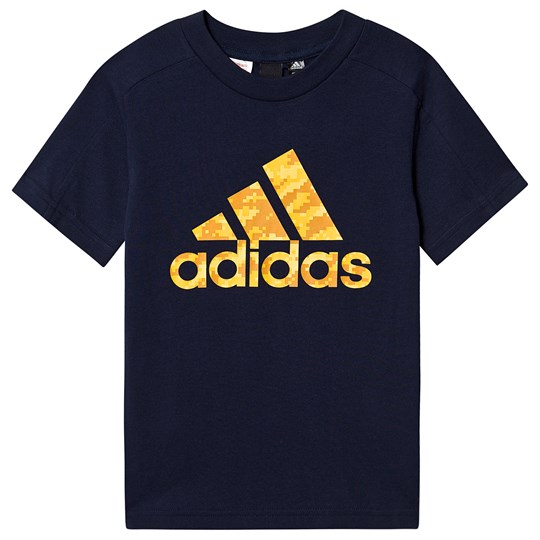 adidas Performance Camo Logo T-shirt Navy collegiate navy/active gold