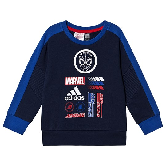 adidas Performance Spiderman Logo Genser Navy collegiate navy/collegiate royal/scarlet