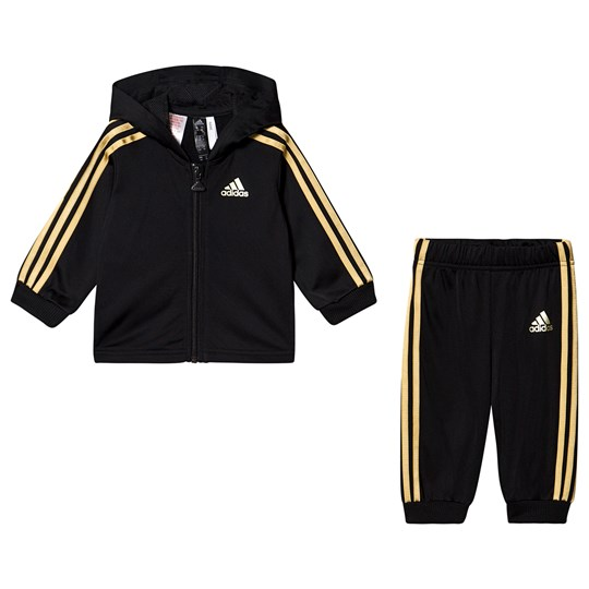 adidas Performance Branded Träningsoverall Svart/Guld Top:black/gold met. Bottom:BLACK/GOLD MET.