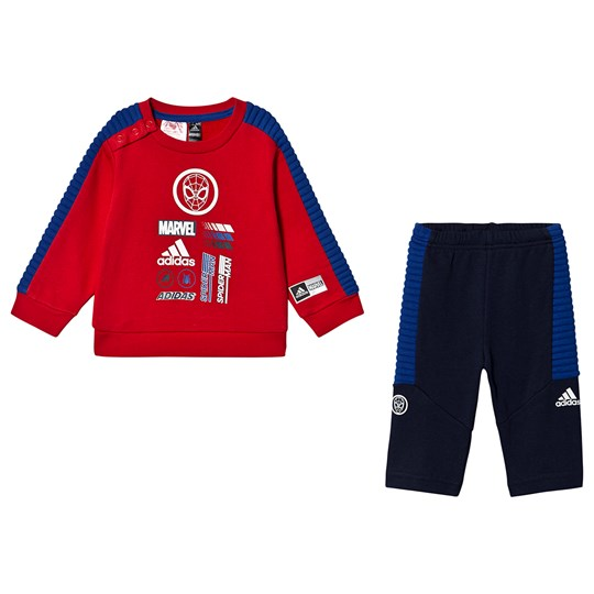 adidas Performance Spiderman Sweater and Pants Set Red/Navy Top:scarlet/collegiate royal Bottom:COLLEGIATE NAV