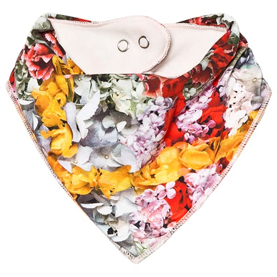 Molo Nayela Baby Scarf Checked Flowers Checked Flowers