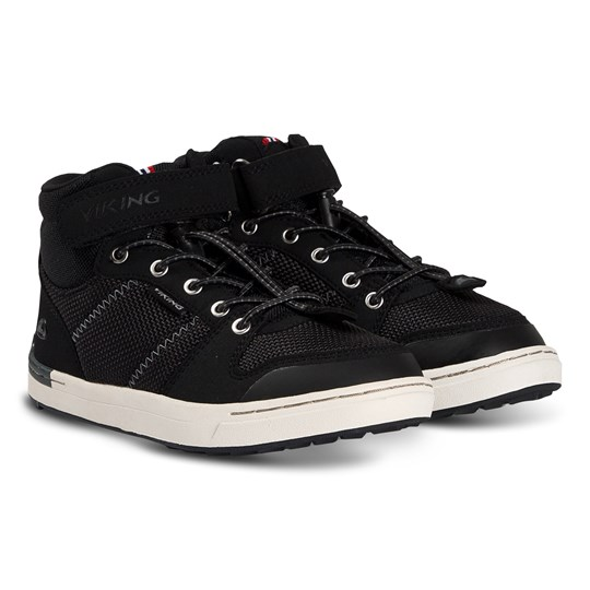 Viking Loren Mid Shoes Black and White Black