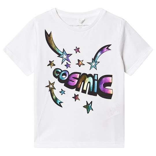 Stella McCartney Kids Cosmic and Star Print T-shirt White 9082