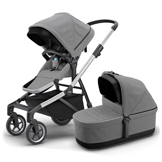 Thule Thule Sleek Stroller with Bassinet Grey Melange Grey Melange