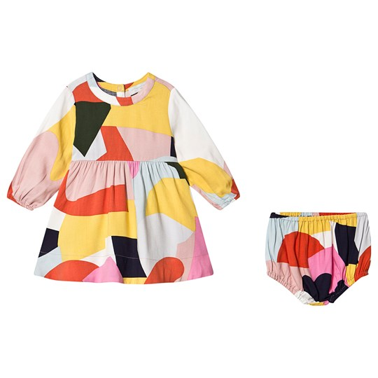 Stella McCartney Kids Color Block Twill Dress Multi 8486