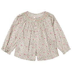 Bonpoint Liberty Print Smock Blouse Cream